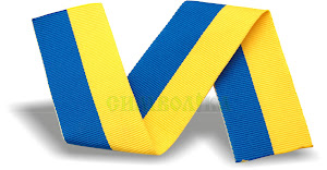 Стрічка синьо-жовта ткана (ширина-30мм.)