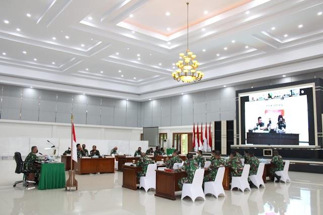 Kasdam XII/Tpr Pimpin Rapat Panproggar Triwulan III TA 2021