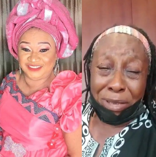 Veteran actress, Patience Ozokwo, breaks down in tears following the demise of her friend and colleague Rachel Oniga