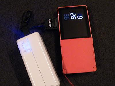 auガラケーをBTN-DC2Wで充電