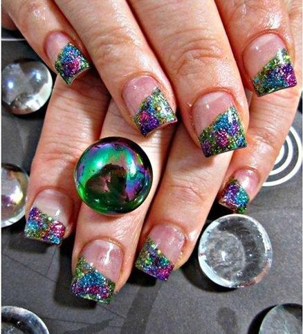 new peacock nail art design ideas  fashionist now