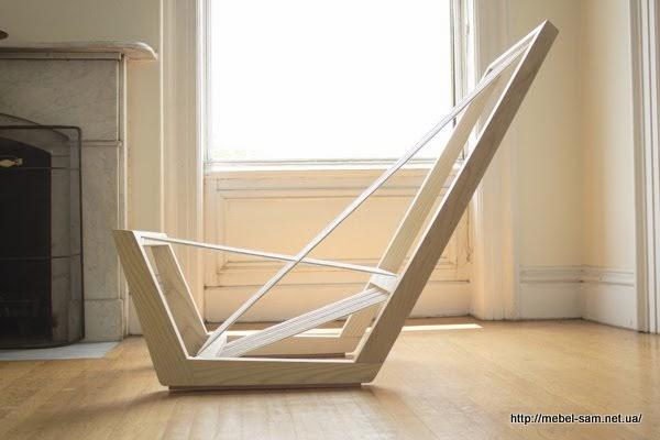 Кресло - деревянный каркас с натяжным сиденьем из обычной веревки
