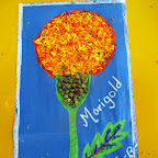 Marigold Petal Collage Activity (Sr.KG.) 10-3-2015