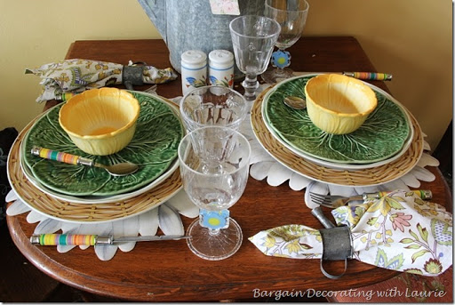 Spring Tablescape Bargain Decorating With Laurie