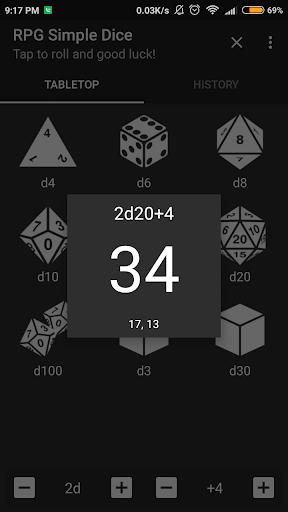 RPG Simple Dice  captures d'écran 2