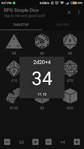 RPG Simple Dice Apk for Android. [DND 5E compaitable] 2
