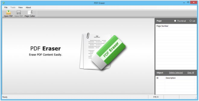 PDF-Eraser tool windows