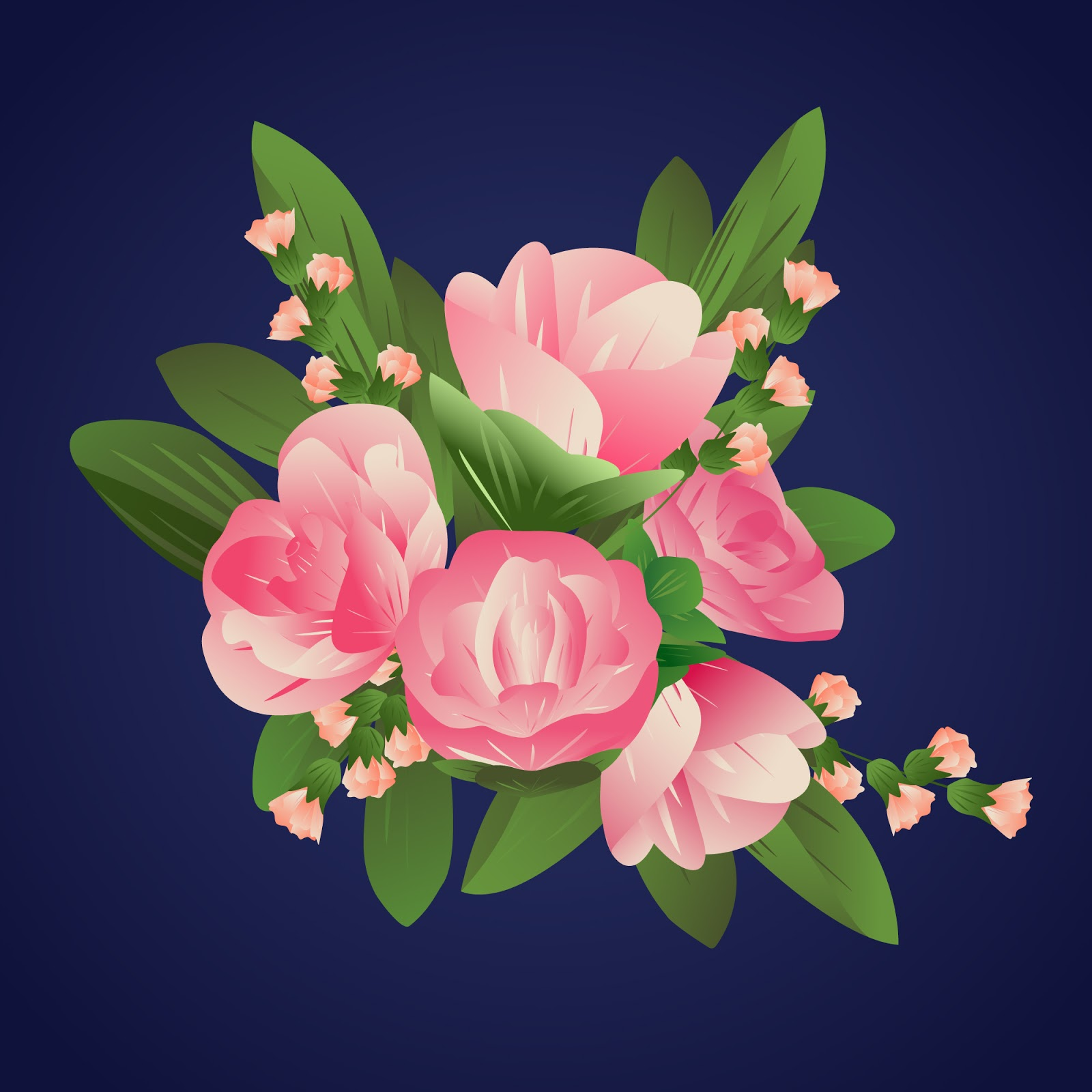 Colorful Gradient Paper Style Roses Free Download Vector CDR, AI, EPS and PNG Formats