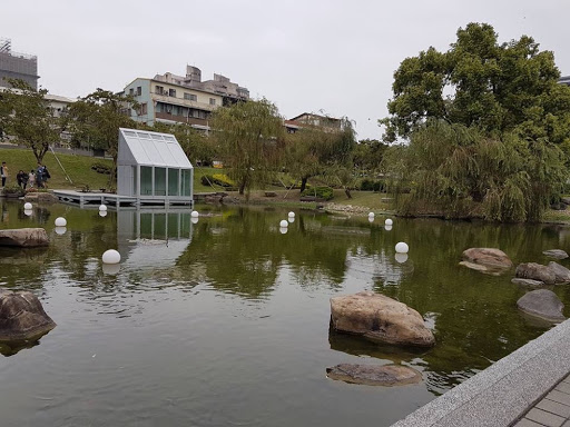 Pond at Fengjia University in Taichung Taiwan