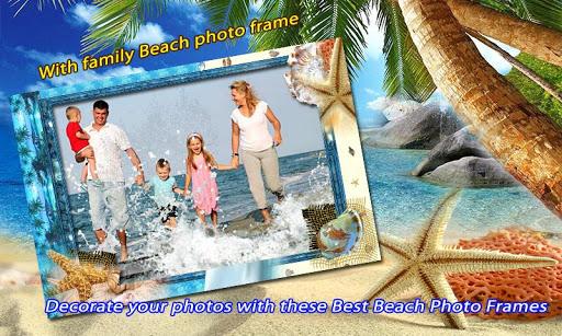Beach photo frame effects