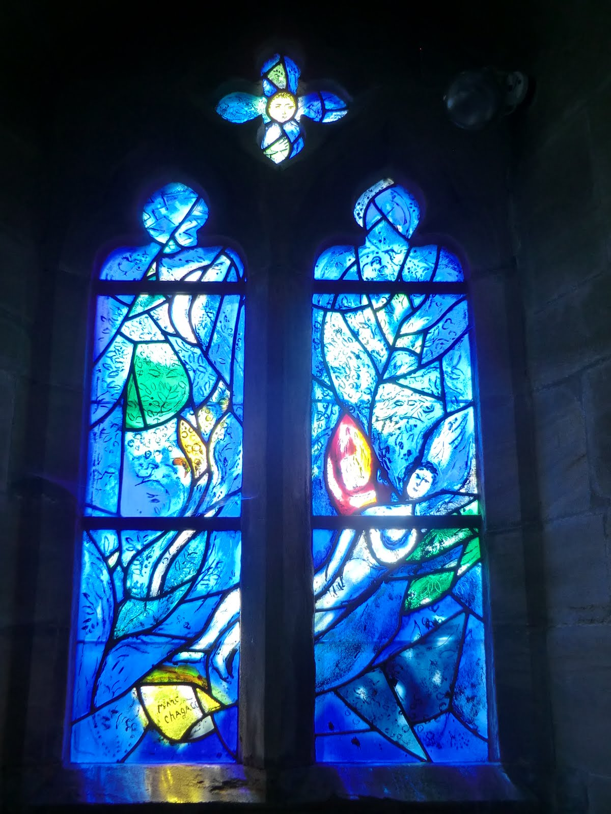 CIMG1555 Chagall window #9, All Saints church