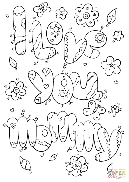 Click The Love You Mommy Coloring Pages