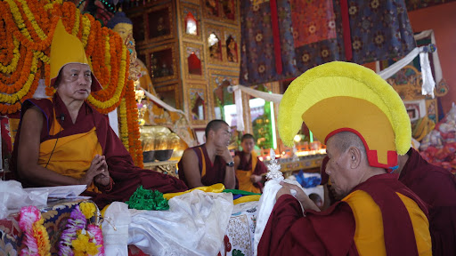 Lama Lhundrup during long life puja at Kopan Monastery Dec 2010.