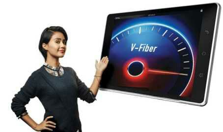 All about Airtel V-fiber broadband service : Unlimited call and 100 Mbps highspeed data