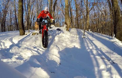 Fat biking on Twin Lakes singletrack