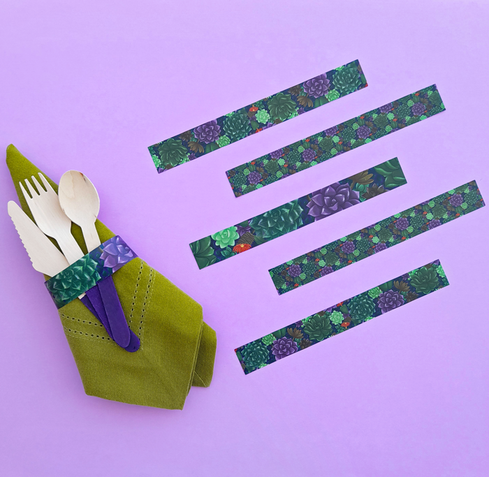picnic, garden tea party, celebration, Summer, Spring, napkin rings, succulents, pattern, illustration, wrapper, nature