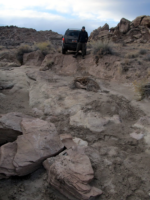 We had to move a couple of small boulders to get up this road