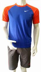Áo thun thể thao nam cao cấp Nike xanh-cam