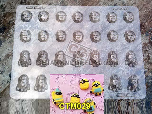cetakan coklat cokelat minion despicable CTM29 CTM029 mold