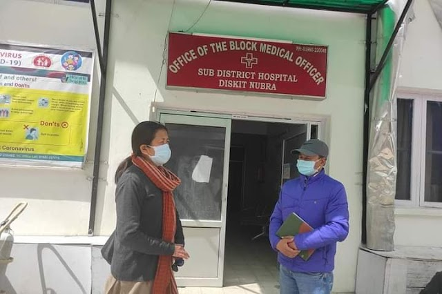EC Mehdi Visits Nubra to Take stock of Arrangements for Covid-19 Patients