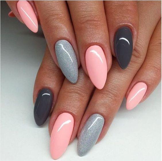 Gel Nails#, Gel Pink Nails#, Glitter Nails#, nail art 2018#, nail art  designs, nail colors, acrylic nails, coffin nails - 60 +Pic Pink Gel Nails Ideas 2018 - Style You 7