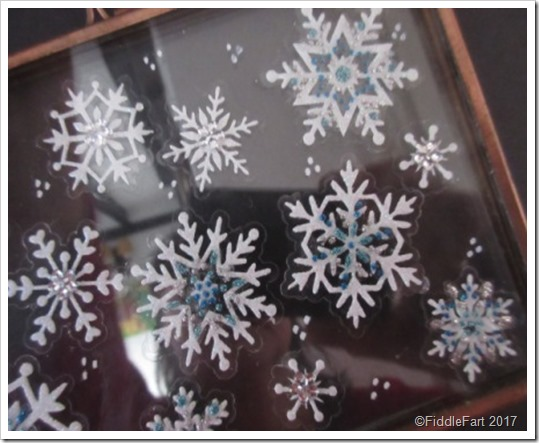 Hinged Glass Memory Frame Christmas Snowflake