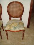 Vendo silla de caoba fabricada de