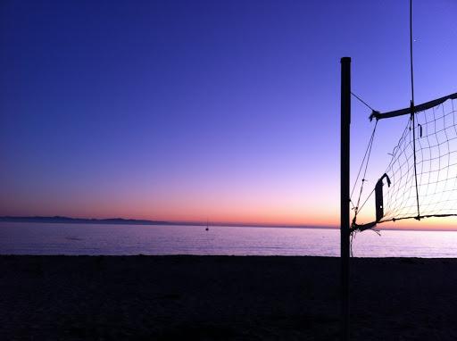 Sunset at Goleta Beach. The Secret to Big Fun in Santa Barbara for Very Little Money