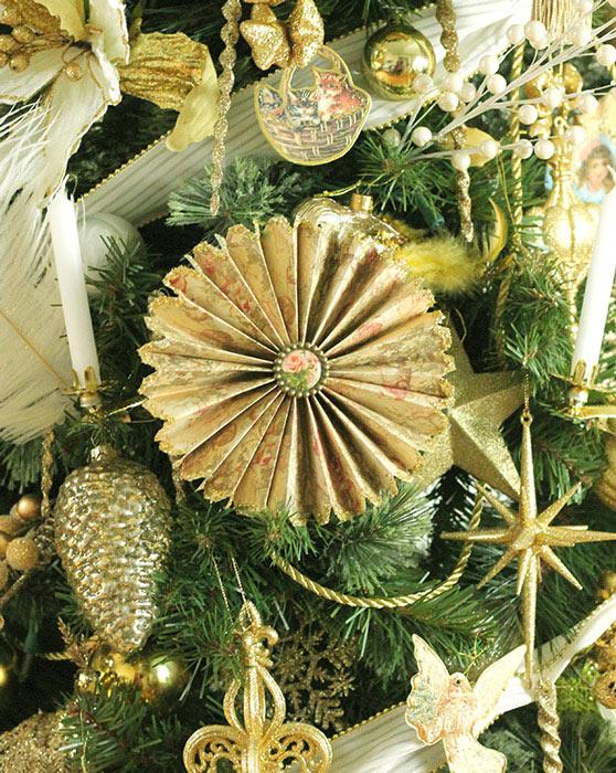 Victorian Fan Pinwheel Ornaments