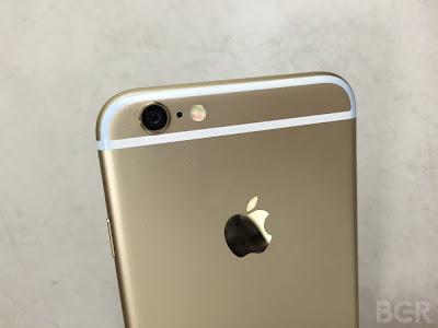 Dラインに色移りしたiPhone6