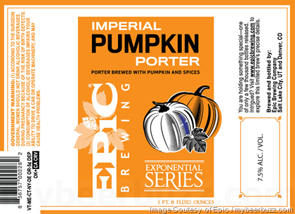 Epic Brewing Imperial Pumpkin Porter Amp Barrel Aged