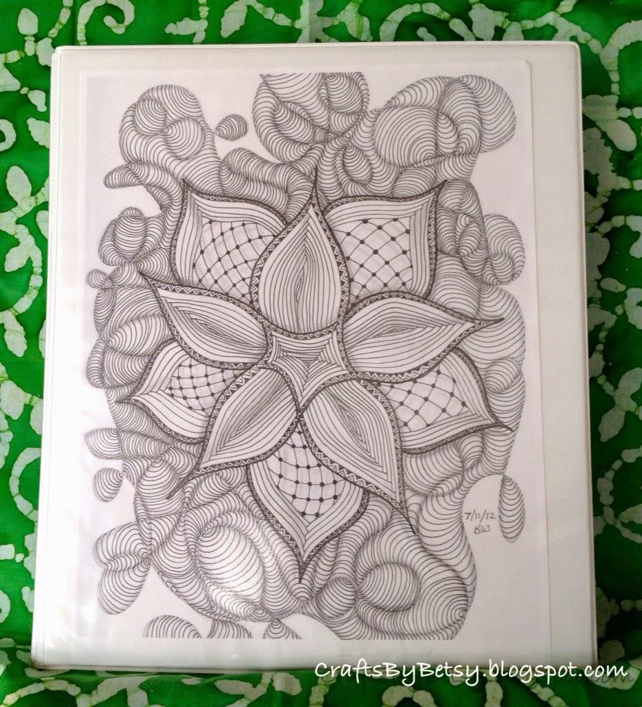 By Betsy A Peek At My Zentangle Pattern Notebook