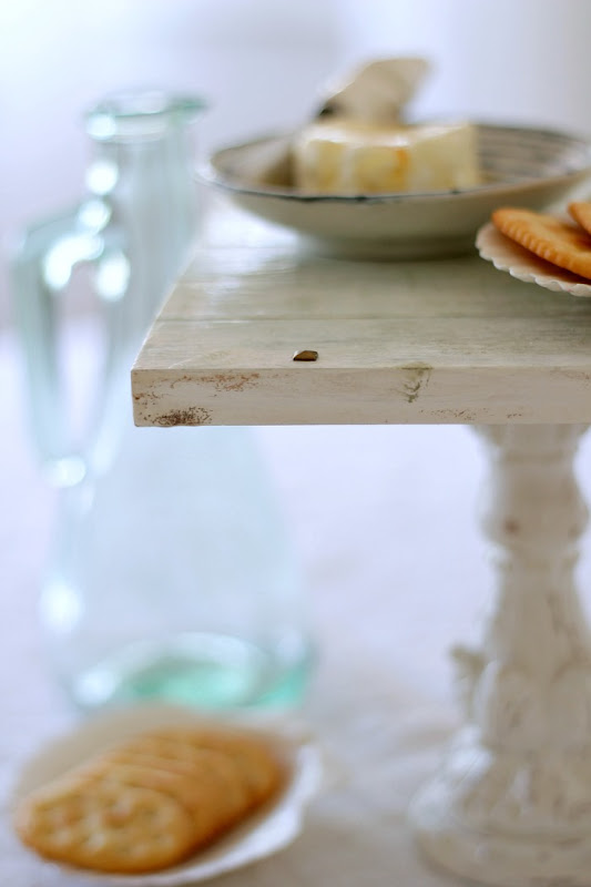 Coastal Decor Distressed Wood Tray