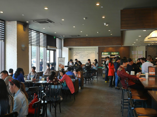 people inside the Starbucks in Hengyang, Hunan