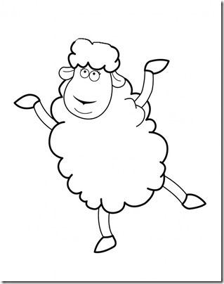 00 - ovejas para colorear (7)
