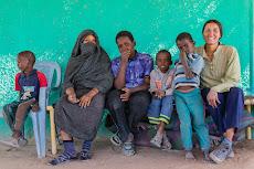 Shy Sudanese kids.