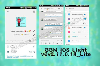 BBM MOD IOS Light v6 Based BBM 2.11.0.18 apk