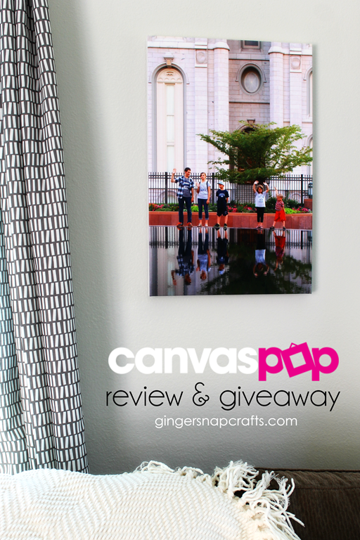 Canvas Pop Review & Giveaway at GingerSnapCrafts.com
