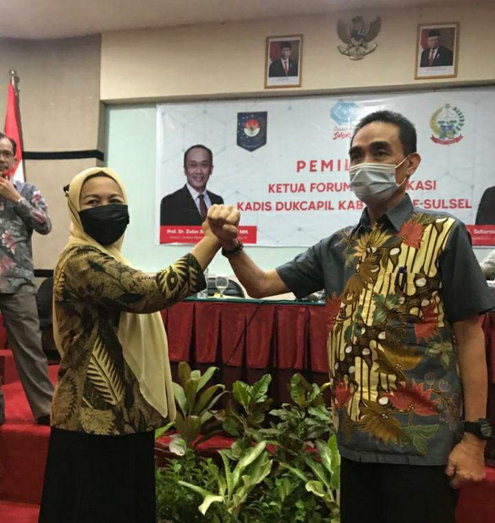 Andi Ilham Terpilih Jadi Ketua Forum Komunikasi Kadis Dukcapil se Sulsel