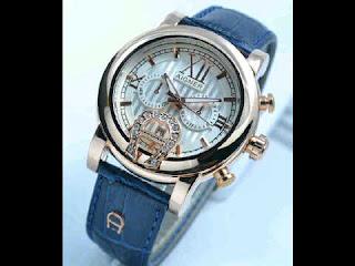 jam tangan Aigner dark blue romawi ring polos