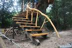 うちの代表のオリジナル木製曲がり階段。
