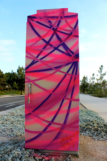 Victor Angelo Public Art Purple Pink Painting