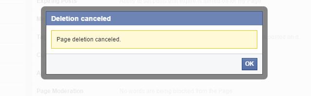Khôi phục fanpage facebook bị xóa thành công