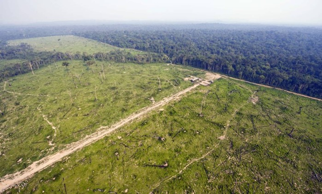 Aerial view of deforestation in the Jamanxim Forest, Pará, Brazil, in 2009. Photo: Antônio Scorza / AFP