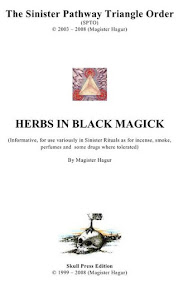 Cover of Magister Hagur's Book Herbs In Black Magick