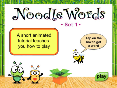 Noodle Words Active Words Set 1 Main Page