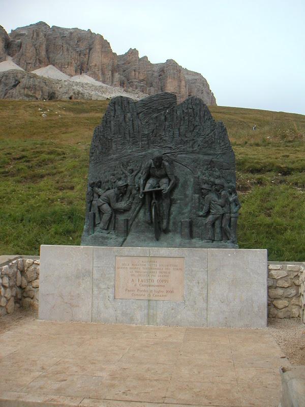 Dolomites • Fausto Coppi Monument (Passo Pordoi)