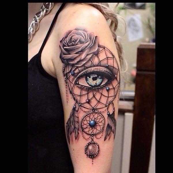dreamcatcher_e_olho_tatuagem