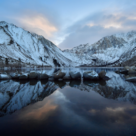 Convict Lake by Dan Pham - Landscapes Mountains & Hills ( mountain, snow, morning dew, lake,  )