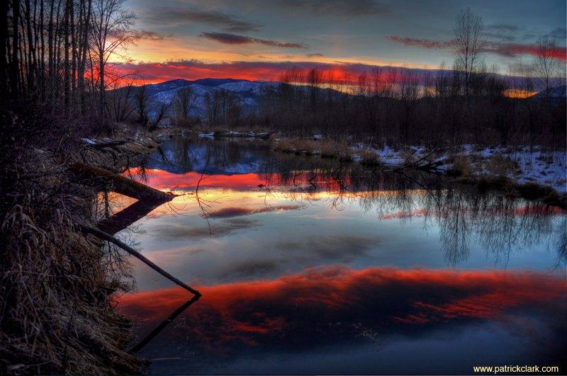 Red Sky Montana. Missoula, MT. ©Patrick Clark. Prints available at patrickclark.com